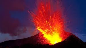 eplosione di un vulcano