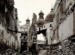 Treviso dopo il bombardamento del 44