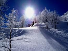 sciando sui monti