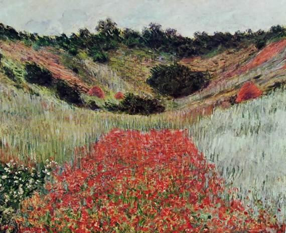 54 Monet - campo di papaveri presso Giverny