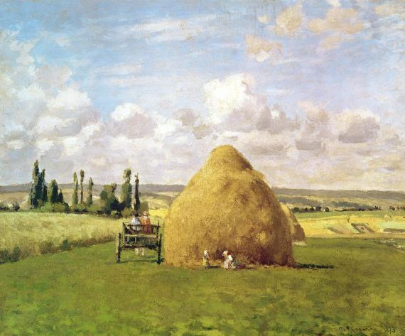 the-haystack-camille-pissarro
