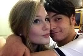 Carlotta con il fidanzato