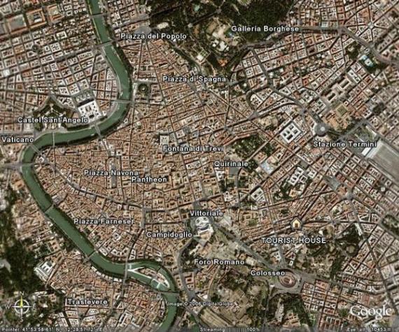 Roma dall'alto italiano