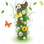 14864688-Beautiful-spring-letter-I--Stock-Photo-alphabet