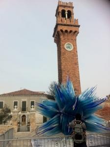 Scultura in vetro di Murano