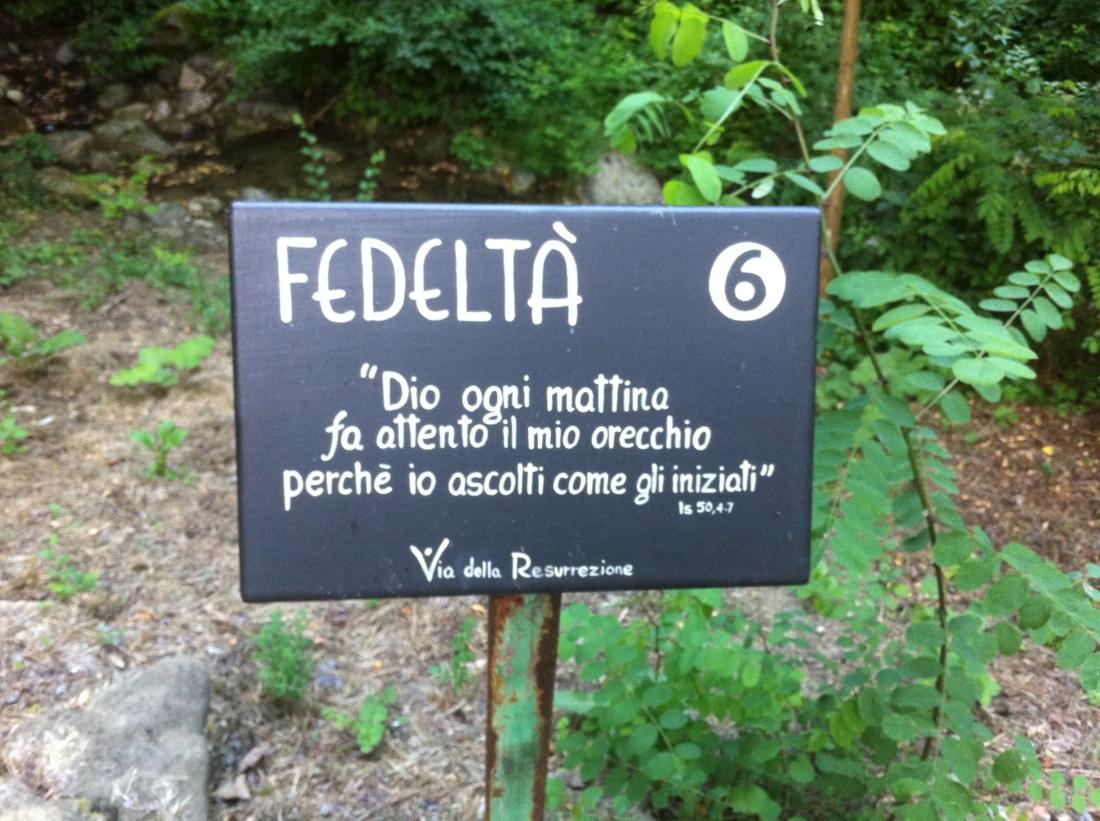 Via della Resurrezione - Fraternità di Romena - Toscana